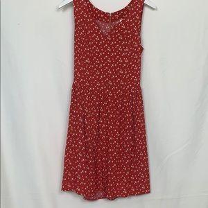 Xhilaration red sleeveless dress size Med.